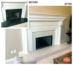 painted stone fireplace before and after rock fireplace makeover full size of air stone over brick