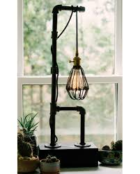 Caged Bulb Vintage Pipe Lamp Steampunk Pipe Lamp Industrial