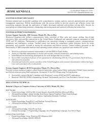 Support Specialist Resume Sample