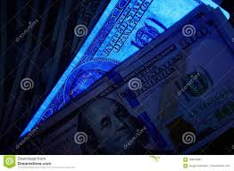 Fake Note Uv Light Fake Us Dollar Bill In Uv Light Stock Image Image Of