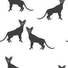 生地に印刷のシンプルなシームレス パターン動物の壁紙猫の