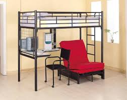 log loft bed with desk large image for log loft bed coaster fine furniture metal youth