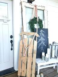 vintage wooden sled for under dollars amazing decoration ideas sleds antique sledge how to build a