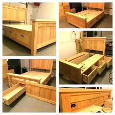 platform bed with drawers plans. Diy Platform Bed With Drawers Storage  Plans Build A .