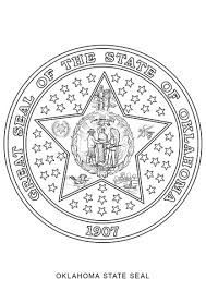 Oklahoma State Seal Coloring Page Free Printable Coloring Pages