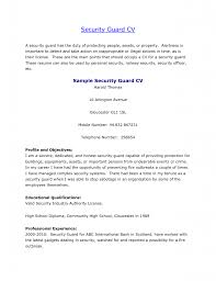 Sample Cover Letter For Security Guard Security Guard Cover
