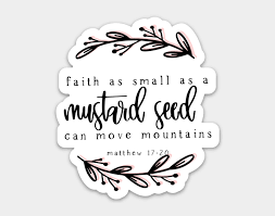 Faith As Small As A Mustard Seed Sticker, Cliparts & Cartoons - Jing.fm