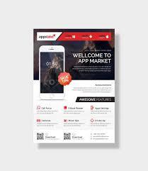 Design Flyer App App Market Stylish Business Flyer Design Template 001535