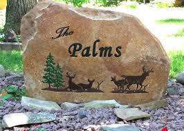 custom neighborhood entrance sign signs engraved stone garden stones personalized memorial photo gallery personalized garden