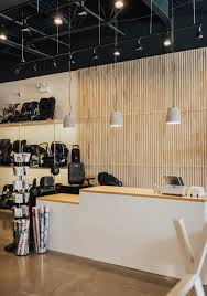 Ceiling Interior Design For Shop Feature Wall Behind The Register Lots Of Modern Lighting