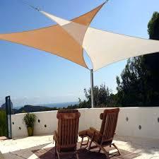patio sun shade triangle shaped tarps idea outdoor sail canopy shades sails yard on mesa