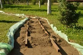acacia wood slices rustic garden path 3