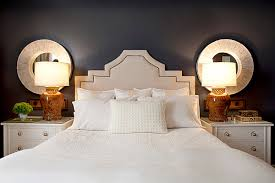 bedroom night stands. View In Gallery White Nightstands With Gold Handles. Looking For A Geometric Bedroom Night Stands S