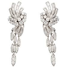 beautiful diamond chandelier earrings design that will make you wonderstruck for small home decoration ideas with