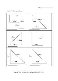 Kindergarten Grade 5 Perimeter Area Worksheet 5 Kidschoolz Maths ...