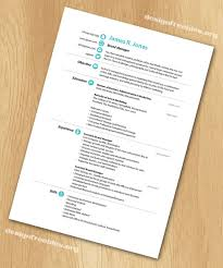 Free InDesign resume cv template 1