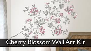 cherry blossom wall art decal kit cherry full size