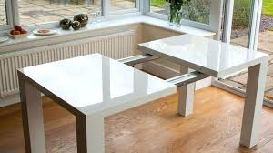 Expandable Kitchen Table Sets Sleek And Elegant White Gloss Rectangle Expandable  Dining Table Expandable Kitchen Table