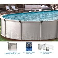 eternia 13 x 20 ft oval ress free above ground pool custom package