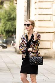 escada multicolor fringe trim leather jacket chanel medium classic flap bag black with gold hardware milan fashion week street style