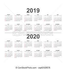 2019 Calendario 2020 Colorsweek Inizi Vacanze 2019 Sunday