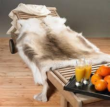 reindeer skin rug