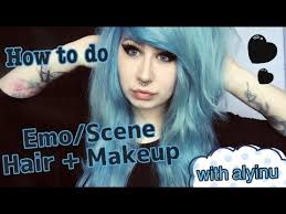 how to do emo scene hair and makeup with alyinu