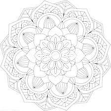 Coloring Sheet Mandala Intricate Flower Coloring Pages Mandala