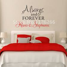 Personalized Couple Name Wall Decal Always And Forever Love Quotes Cool Quotes For The Couples On The Ved