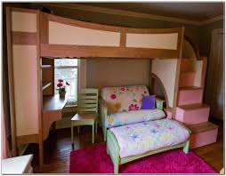 bedroom the commodious bunk bed with couch and desk for your children bedroom square decor fabulous home interior ideas