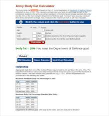 Army Body Fat Chart Female 9 Body Fat Chart Templates Doc Pdf Excel Free