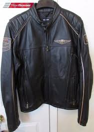 harley davidson mens 110 anniversary black leather motorcycle jacket large nwt