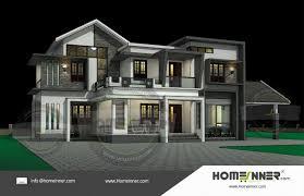 Kerala Home Design 3d 2700 Sq Ft Kerala Style 3d Exterior Elevation Architectural