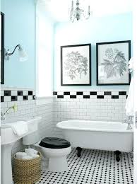 tile floor bathroom. small bathroom ideas black and white with vintage claw foot tub like how blue walls add punch of color to tile floor
