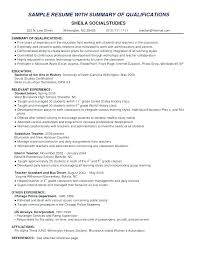 Student Profile Template For Teachers Resume Profile Statement For Career Change In A Examples Spacesheep Co