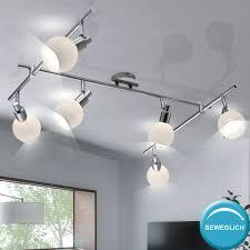 Chrom Glas Design Decken Spot Leiste Esstisch Lampe Leuchte Im Set