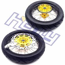 3 5 4 25 supermoto wheels rims set with tires for suzuki rmz250