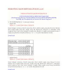 Contoh soal akademik polri dan jawabannya pdf guru ilmu sosial silahkan download aplikasi latihan soal akademik polri di bawah ini. Soal Tes Angka Hilang Pdf Guru Paud