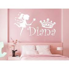 Shop Girl <b>Name Fairy</b> Crown Sticker <b>Personalized Name</b> Nursery ...