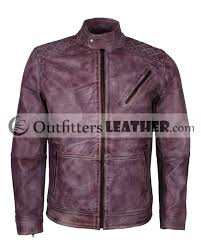 cafe racer purple waxed fashion designer leather jacket for men outfitters leatheroutfitters leather