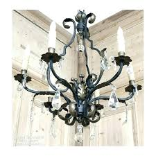 white wrought iron crystal chandelier and chandeliers small