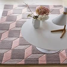 geometric grey soft pink geo06