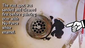 fix bathtub rust spot with waterproof ceramic enamel