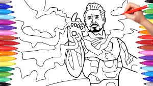 Did you enjoy playing this game? Iron Man Avengers Endgame Coloring Book Iron Man With The Infinity Stones Youtube