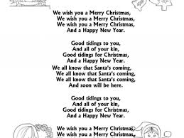 christmas song lyric coloring pages WE WISH YOU A MERRY ...