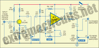 guitar preamplifier circuit diagram electric guitar preamplifier circuit diagram
