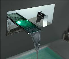 our lucania led bathroom faucet was designed to instantly catch your eye the finish is classic chrome the led lights combined with the waterfall effect of