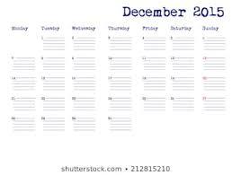 Calendar Month December 2015 Digital Led Vehicle Indicators Oil
