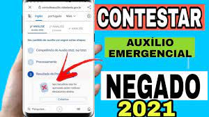 CONTESTAR AUXÍLIO 2021 NEGADO NO SITE DATAPREV - YouTube