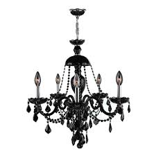 worldwide lighting provence collection 12 light chrome with black crystal chandelier